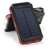 Solar Charger Teryei Solar Power Bank 15...