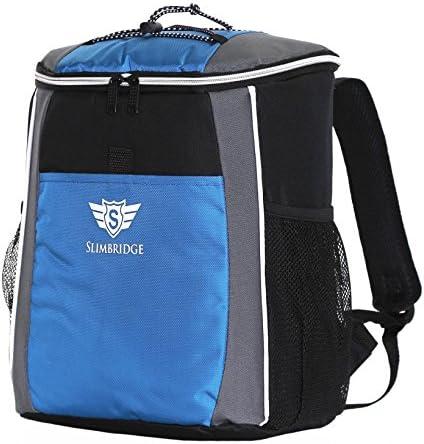 Slimbridge Kühlrucksack Isolierten Kühltasche Wasserdicht Picknickrucksack Handgepäck Rucksack 18 Liter 35 cm 400 Gramm, Brean Blau