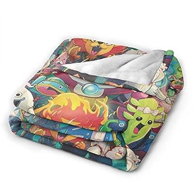 WWSSTTOO Yo-Kai Watch Flannel Fleece Plush Throw Blanket Durable Cozy Bed Couch Throw Blanket 3D Print for Boys Girls 60