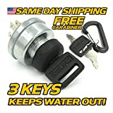 Cub Cadet Ignition Key Switch 2160 2164 2165 2176 2182 2185 2186 2206 2284 2518 + 3 Keys & Free Protective Cover Upgrade! - HD Switch