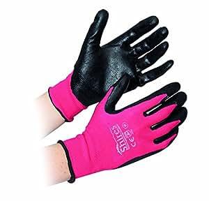 Shires All Purpose Yard Gloves - Medium - Pink/black