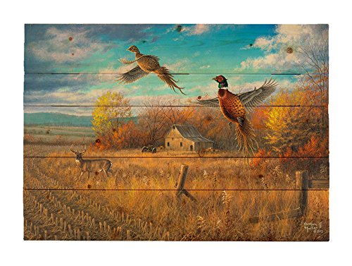HADLEY HOUSE Farmland Sanctuary by Abraham Hunter Decorative Wood Wall Plaque 18x24 by HADLEY HOUSE