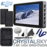 DJI CrystalSky Monitor - 7.85 High Brightness with 2 Batteries, Dual Charger & Cleaning Bundle