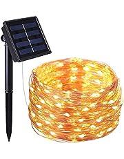 Echoming Solar Guirnalda de Luces IP65 Impermeable Luz de Jardín