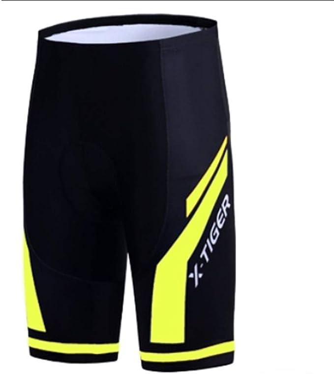Herren Radhose Gel gepolsterte MTB Rennradshorts Beiläufig Fahrradhose 2 in 1