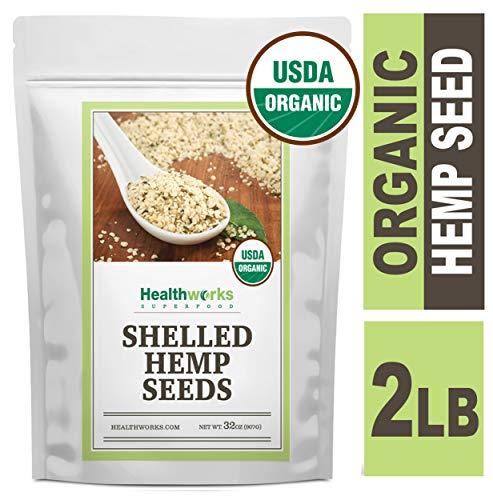 Healthworks Shelled Hemp Seeds Organic...
