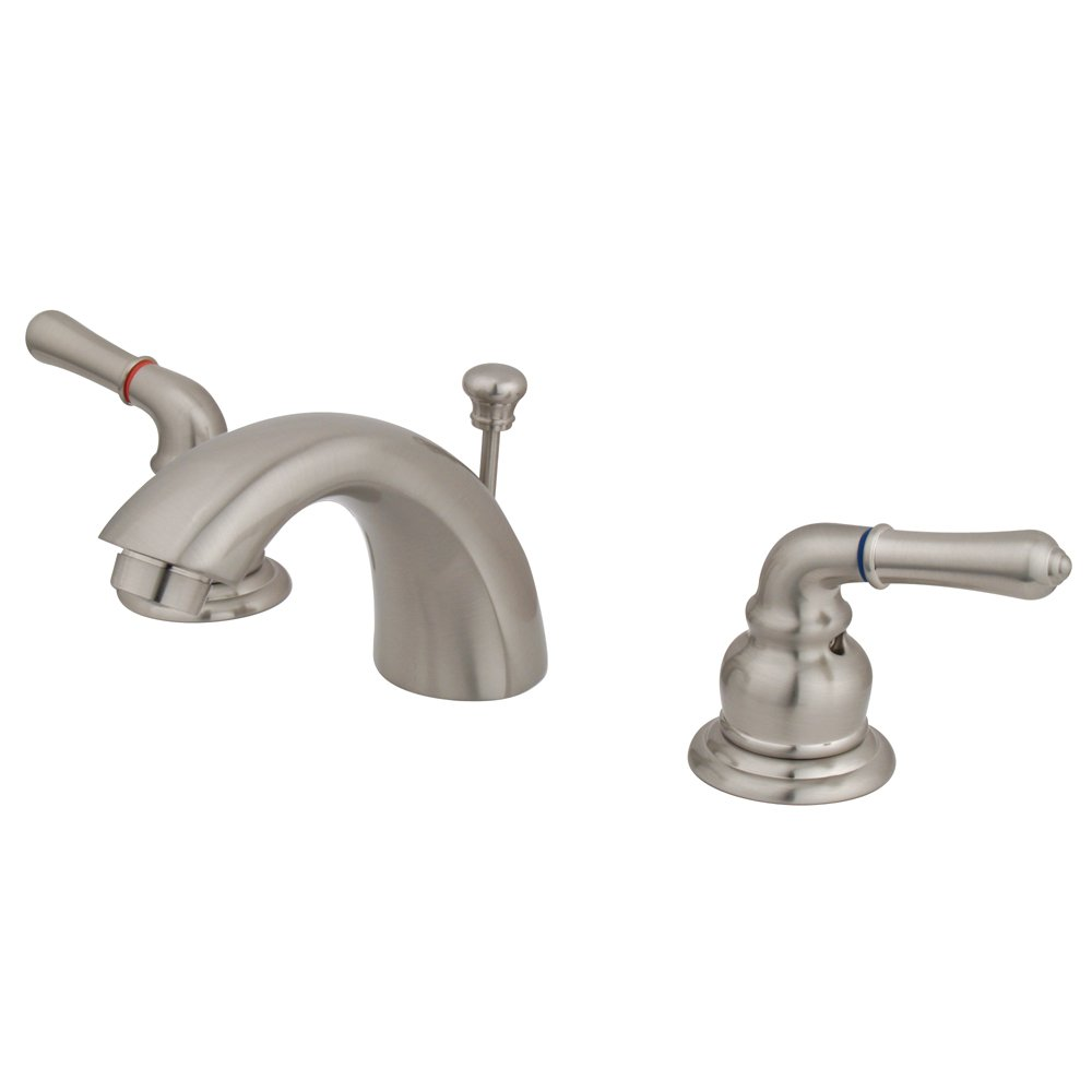 Elements of design magellan eb958 mini widespread lavatory faucet with retail pop up 4 inch to for 4 inch widespread bathroom faucets
