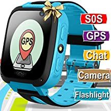 Kids Smart Watch Phone - GPS Tracker for Kids Boys Girls Smartwatch with Cellphone SOS Anti-lost Camera Game Smart Watch Digital Wrist Watch Bracelet for Sport Learning Toys Birthday Holiday Gifts
