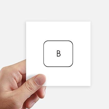 DIYthinker Teclado de símbolos B Cuadrado de 10 cm Pegatinas ...