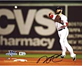"Dustin Pedroia Boston Red Sox 2013 World Series Champions Autographed 8"" x 10"" Throwing Photograph - Fanatics Authentic Certified"