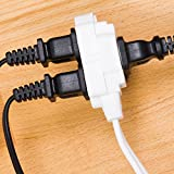 GE 12 Ft Extension Cord, 3 Outlet Power Strip, 2