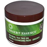Desert Essence Natural Cleansing Pads with Tea Tree Oil, 50ct