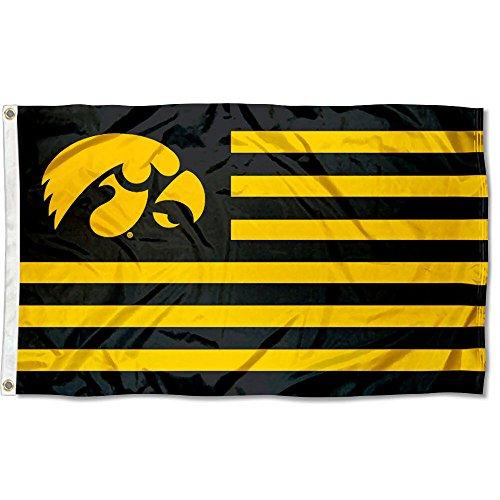 Iowa Hawkeyes Flag - Iowa Hawkeyes Stars and Stripes Nation Flag