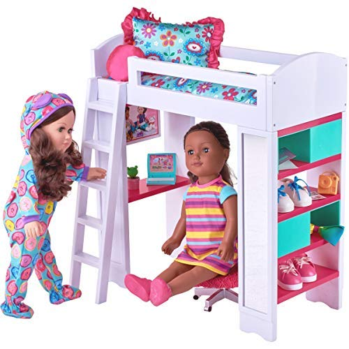 My Life As 6-Piece Light & Sound Loft Bed Play Set with Reversible Bedding