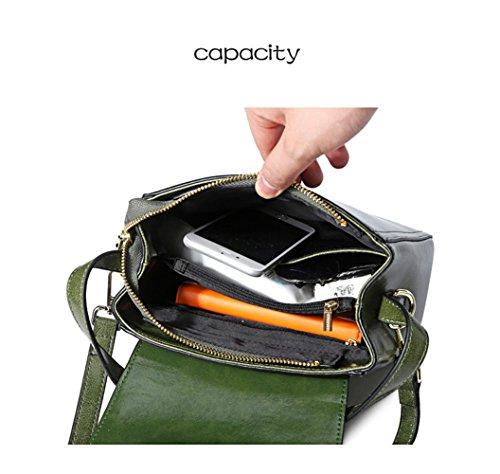 Bag Backpack Womens black Cowhide Handbags Cowhide Fashion HopeEye 2 Earthy Crossbody Fashion Yellow Trends d0nqaxI