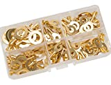 SwitchMe 100Pcs Wire Crimp Connectors Wiring Non-Insulated Ring Terminals Assortment Kit