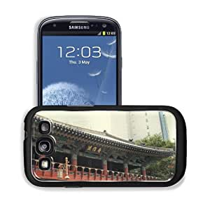 Asian Architecture Seoul South Korea Samsung I9300 Galaxy S3 Snap Cover Premium Aluminium Design Back Plate Case Customized Made to Order Support Ready 5 3/8 inch (136mm) x 2 7/8 inch (73mm) x 7/16 inch (11mm) MSD Galaxy_S3 Professional Metal Cases Touch