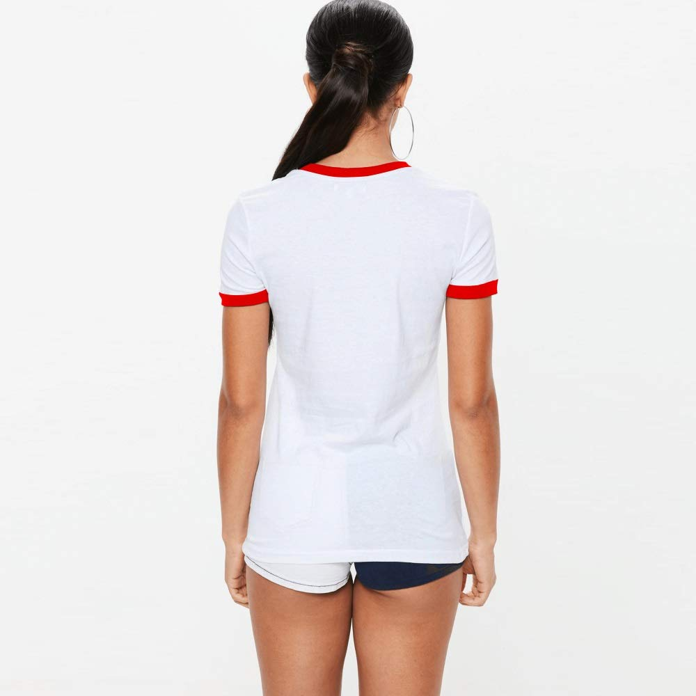 Vivian Springhall Girls Round Neck Contrast Color Tee New Short Sleeve Concert T Shirts for Men