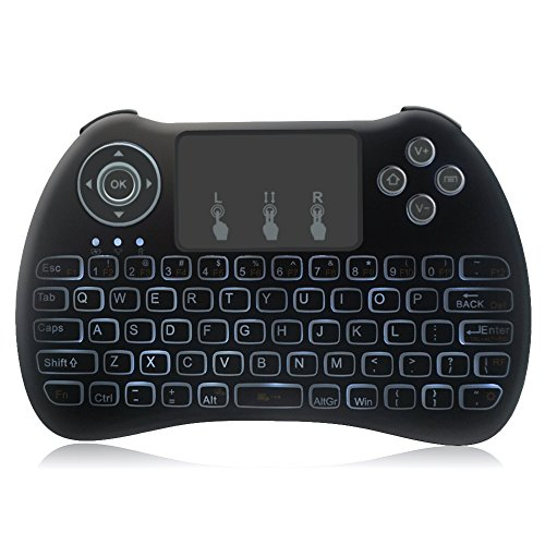 Kekilo H9 Backlight 2.4G Mini Wirelesss Touchpad Keyboard Fly Air Mouse for PC,Tablet,Mini PC,Android TV Box Touchpad Handheld Remote