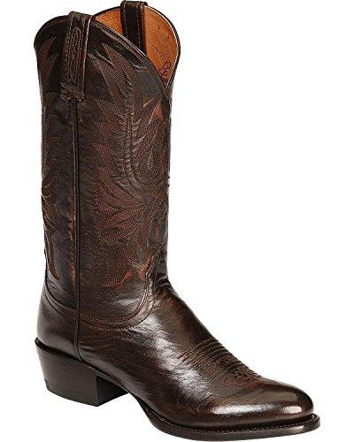 Lucchese Bootmaker Men's Carson-ant Walnut Lonestar Calf Cowbo Riding Boot