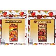 Grateful Gifts Thanksgiving Door Cover & Banner Set Assorted Colors and Designs - 1 Banner and 1 Door Cover
