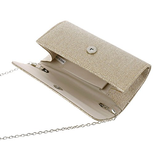 Women's Bag Shoulder Envelope Champagne Wedding Dabixx Prom Party Evening Champagne Clutch Handbag Bridal qtTxd