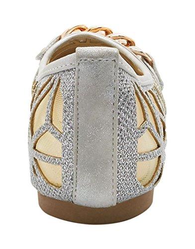 Women's Sommer Footwear Ballet Flats Silver London qEgUZ