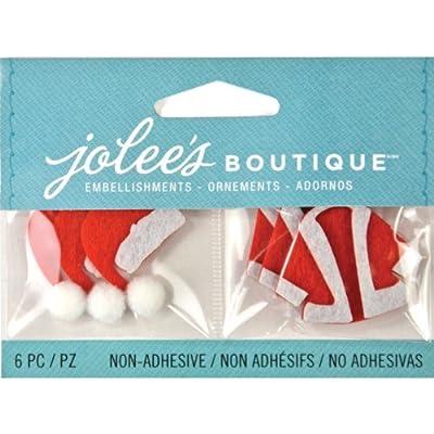 Jolee's Boutique Scrapbooking Embellishments, Christmas Santa Hats and Coats