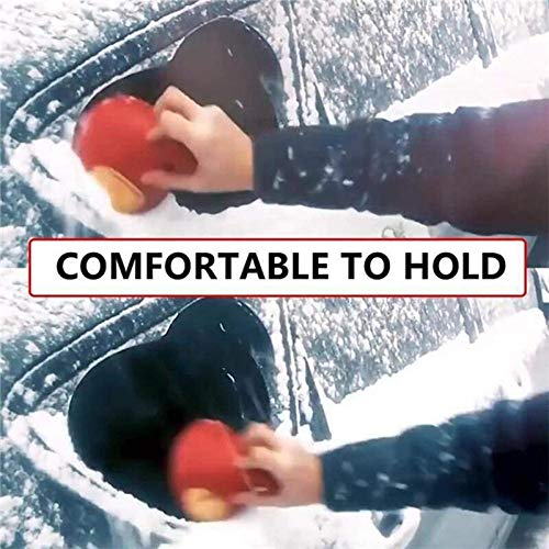 4 Pcs Auto Car Magic Window Windshield Car Ice Scraper Shaped Funnel Snow Remover Deicer Cone Deicing Tool Scraping HomeEquip Round Ice Scraper Magic Funnel Snow Removal Tool