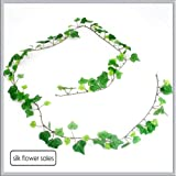 Mini green Ivy garland Artificial silk 6ft with 108 leaves
