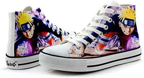 Telacos Naruto Cosplay Schuhe Canvas Schuhe Sneakers Bunt 2