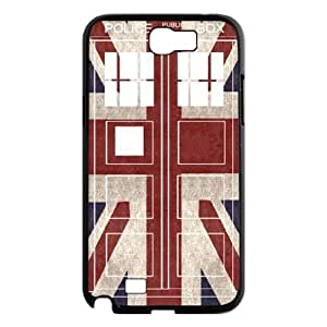 Custom Hard Plastic Back Case Cover for Samsung Galaxy Note 2 N7100 with Unique Design Police Box