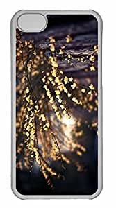 iPhone 5C Case, Personalized Custom Yellow Tree Blossom for iPhone 5C PC Clear Case by mcsharks
