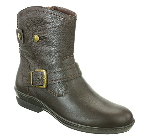 David Tate Relax Womens Boots, Brown Pebble Grain, Size – 6.5W