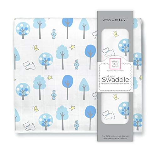 SwaddleDesigns Cotton Muslin Swaddle Blanket