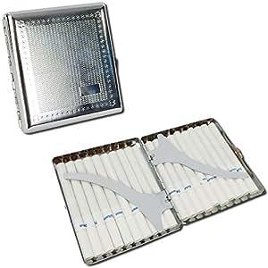 Anti-Crush Cigarette Case - Hard Body Aluminum Alloy Design - Holds 20 Regulars , Kings or Slims Cigarettes