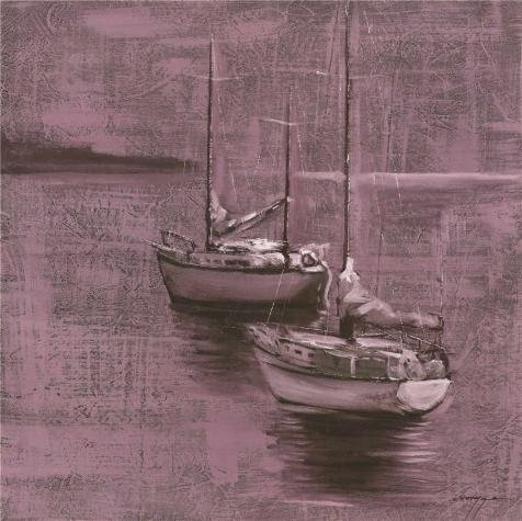 Perfect effect Canvas ,the High Definition Art Decorative Canvas Prints of oil painting 'the Boats', 18x18 inch / 46x46 cm is best for Wall art decor and Home decoration and Gifts (Pink Mossy Oak Tire Cover compare prices)