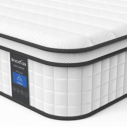Twin Mattress Inofia Responsive Memory Foam Mattress Hybrid Innerspring Mattress In A Box Sleep Cooler With More Pressure Relief Support Certipur Us Certified 10 Inch Single Size