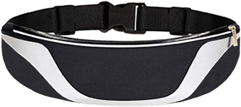 Running Belt Waist Pack with Headphone Port, Running Pounch Belt Compatible with iPhone 3.5 6 7 inches for Men and Women