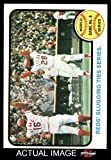 1973 Topps # 208 1972 World Series - Game #6 - Reds' Slugging Ties Series Johnny Bench / Denis Menke / Bobby Tolan Oakland / Cincinnati Athletics / Reds (Baseball Card) Dean's Cards 5 - EX Athletics / Reds