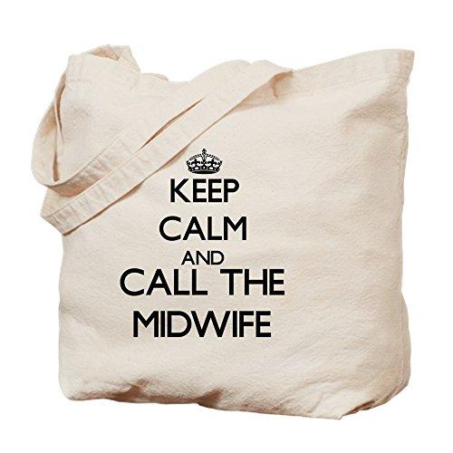 CafePress diseño de Keep Calm And Call The Midwife–Gamuza de bolsa de lona bolsa, bolsa de la compra
