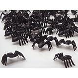 50 Black Spiders horror halloween loot toys Sprinkles