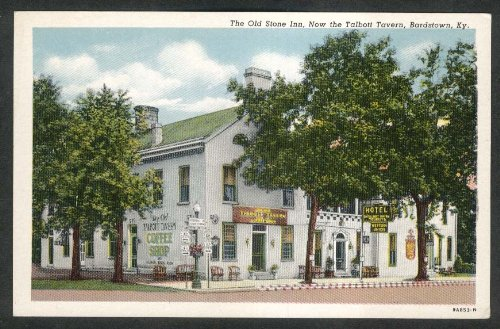 1950 Postcard - Old Stone Inn Talbott Tavern Bardstown KY postcard 1950s