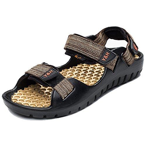 Enllerviid Men Hiking Velcro Strap Outdoor Hiking Men Riverside Sport Sandals Open Toe Quick Dry Water Shoes Parent B071SG1746 169708