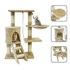 lolipet arbre chat beige avec griffoir de 90cm en. Black Bedroom Furniture Sets. Home Design Ideas