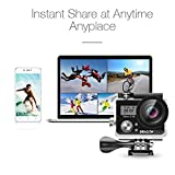 Dragon Touch Vision 3 4K Sports Action Camera Ultra HD Waterproof WiFi 16MP DV Camcorder 170 Degree Wide 2 inch LCD Screen/ Remote Control/ Rechargeable Batteries/ 19 Mounting Kits