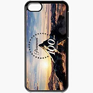 Personalized iPhone 5C Cell phone Case/Cover Skin Anniversary Film Company Mountain Clouds Star Black
