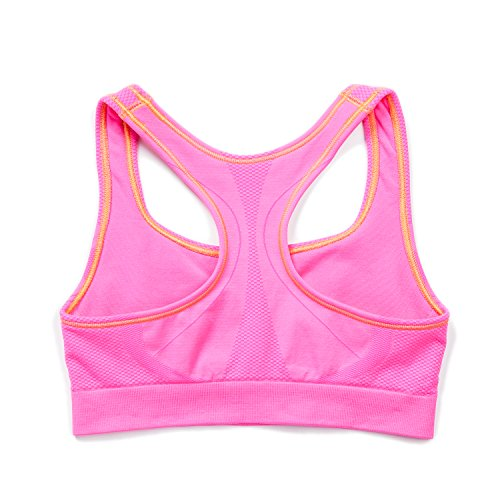 LAPASA Top Reggiseno Yoga Banda Sportivo Reggente Donna Elastica Pink Fitness L08 Imbottito Cuciture Senza fr8vnfxpw