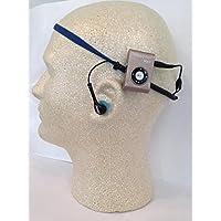 MŪSA Waterproof MP3/FM radio with patented waterproof headband earbuds.