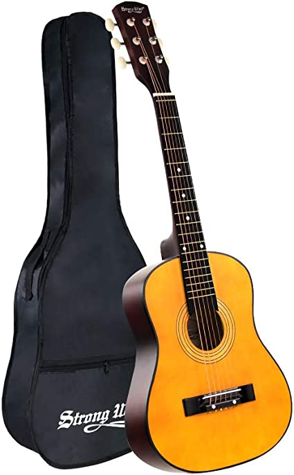 30 Inch Acoustic Guitar Mini Guitars Instrument Beginner Kit For Kids Beginners Child With Gig Bag Natural Guitar 1 2 Size Amazon Co Uk Musical Instruments